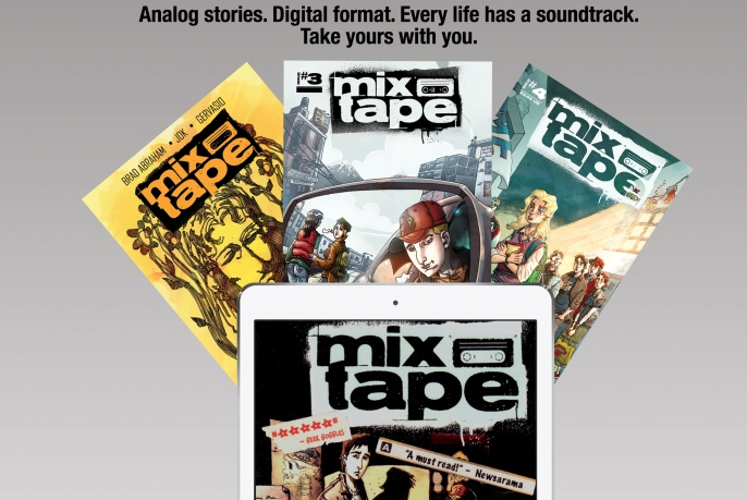 We were the first to launch MixTape the comic on the iBookstore.